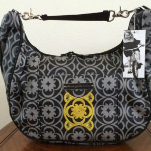 Buy * Petunia Pickle Bottom Casbah Nights Touring Tote Diaper Bag Gray Black Purse