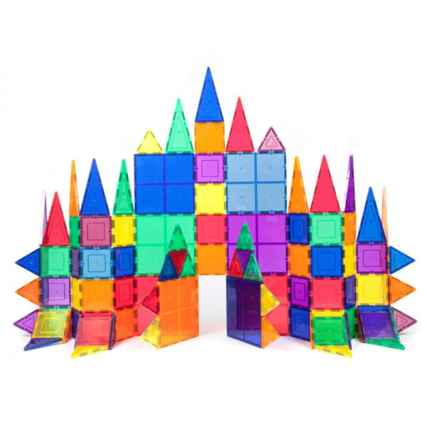 Buy PicassoTiles PT100.V2 100 Piece 3D Color Magnetic Building Block STEM Set