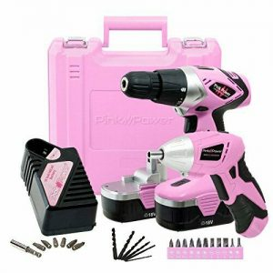 Buy Pink Power Drill and Electric Screwdriver Tool Kit 18 Volt Cordless