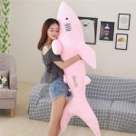 Buy Pop Realistic Animal Shark Plush Toy Giant Soft Stuffed Cartoon Pink Grey Sharks