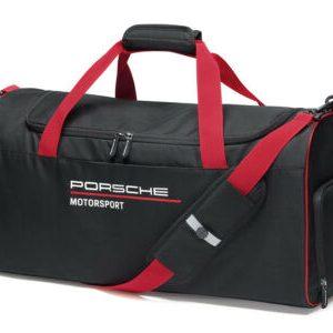 Buy Porsche Motorsport Fanwear Gym Bag Sports Bag Black Red Duffle Bag Luggage