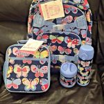 Buy Pottery Barn Kids 4pc Tropical Butterfly Large Backpack Lunch Bag Water Bottle +