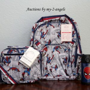 Buy Pottery Barn Kids ALLOVER SPIDERMAN Large Backpack Lunch Bag Water Bottle *comic