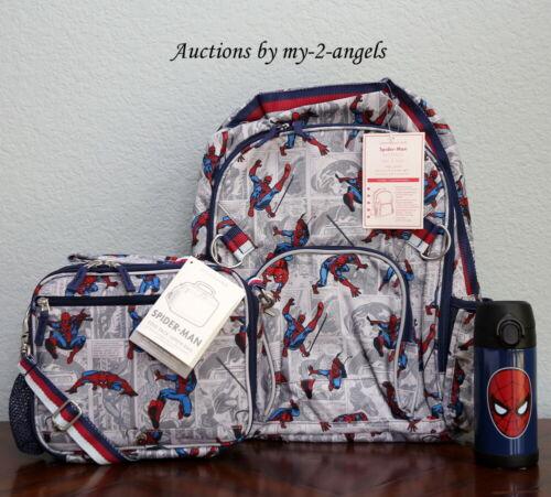 Buy Pottery Barn Kids ALLOVER SPIDERMAN Large Backpack Lunch Bag Water Bottle *comic
