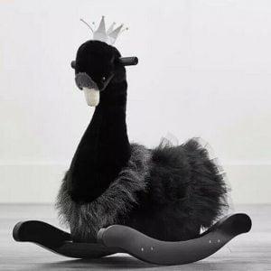 Buy Pottery Barn Kids Black Swan Rocking Rocker Toy Infant Toddler New( Open Box)