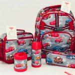 Buy Pottery Barn Kids Mackenzie Large Backpack Gray Red Car Boys Bookbag Disney New