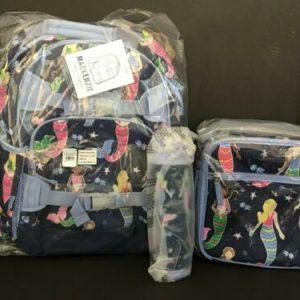 Buy Pottery Barn Kids Mermaid Large Backpack Lunch Box Water Bottle Set NEW