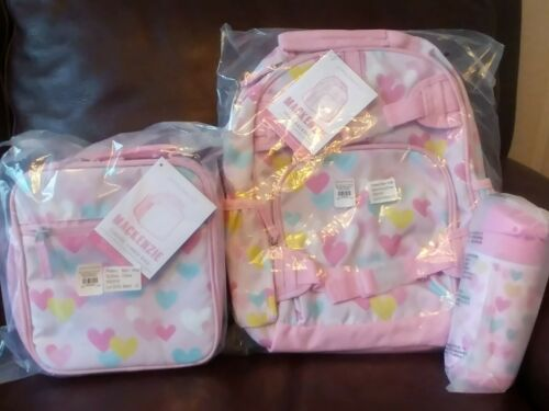 Buy Pottery Barn Kids Pink Heart Small Backpack Lunchbox Water Bottle Set Girl