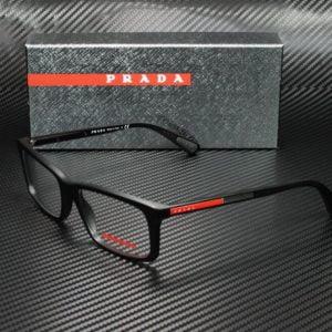Buy Prada Linea Rossa PS 02CV 1BO1O1 MATTE BLACK DEMO LENS 55 mm Men's Eyeglasses