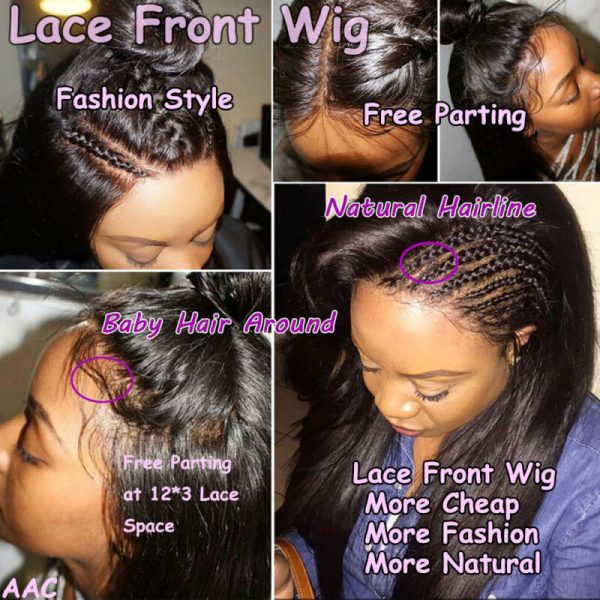 Buy Pre Plucked Natural Peruvian Virgin Human Hair Curly 360 Full Frontal Lace Wig s