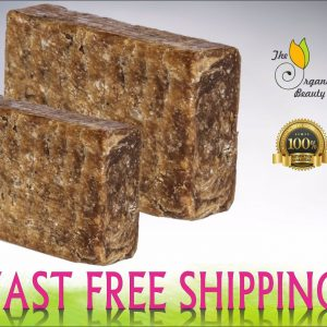Buy Pure Raw African BLACK SOAP Organic From GHANA - Premium Quality CHOOSE SIZE