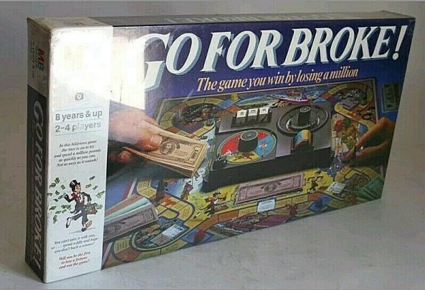 Buy RARE VINTAGE 1985 GO FOR BROKE BOARD GAME MB BRAND NEW SEALED MISB !