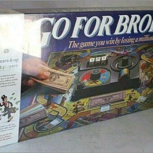 Buy RARE VINTAGE 1985 GO FOR BROKE BOARD GAME MB BRAND NEW SEALED MISB !