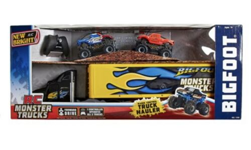 Buy RC Monster Jam Truck Hauler Radio Control Big Foot Hauler with 2 RC Vehicles