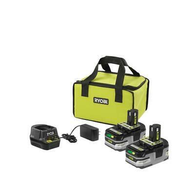 Buy RYOBI 18 V 3.0Ah Battery 2 Pack Starter Kit Charger Bag Bonus Caulk Adhesive Gun