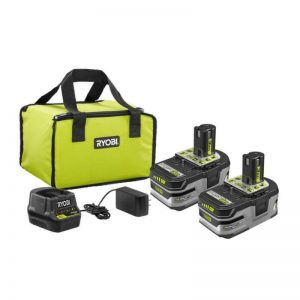 Buy RYOBI Battery Kit 18-Volt Lithium-ion Rechargeable Cordless Charger Bag (2-Pack)
