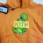 Buy Rare Kith Kids x Rugrats Orange Dinosaur Reptar Character Hoodie 4/5 NWT