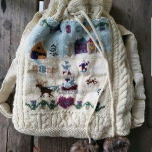 Buy Rare* Ralph Lauren Polo CREAM knit sweater School Book Bag Backpack kid SZ 4-6X