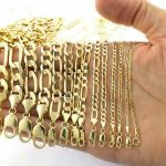 "Buy Real 14K Yellow Gold 2mm- 8mm Italian Figaro Link Chain Pendant Necklace 16""-30"""