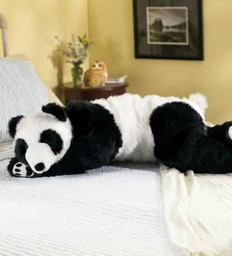 Buy Realistic Large Panda Bear Stuffed Toy Body Pillow Weighted Animal Plush Teddy