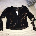Buy Reformation Ani Floral Top Clarice Print Blouse Shirt Size 12 New! $148