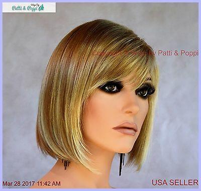 Buy Riley Designer Synthetic Hair Medium Length Bob Wig *Color Blond RH1488