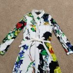 Buy Roberto Cavalli girls shirt dress NWT Size 7 floral pattern
