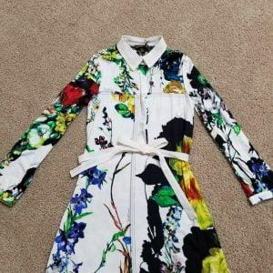 Buy Roberto Cavalli girls shirt dress NWT Size 7 floral pattern