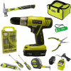 Buy Ryobi Household Tool Set Bundle with Ryobi 18V ONE+ Drill, Drill Bits, Household