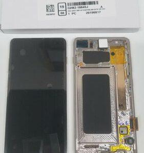 Buy SAMSUNG Galaxy S10+ CERAMIC WHT Original LCD SM-G975F Screen+Digitizer+Frame OEM