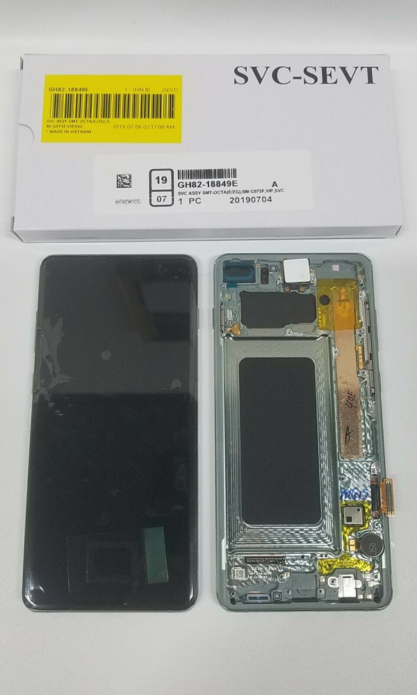 Buy SAMSUNG Galaxy S10+ GREEN Original LCD SM-G975F Touchscreen+Digitizer+Frame OEM