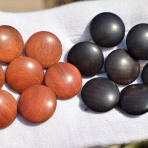 Buy SP9 - EBONY and ROSEWOOD Go stones - Go game, Baduk, Weiqi, Igo