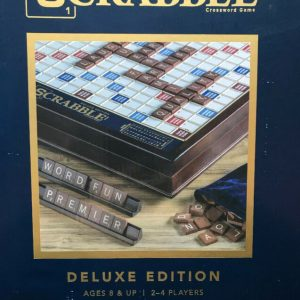 Buy Scrabble Deluxe Classic Edition Wood Rotating Turntable Board Game Lazy Susan