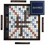 Buy Scrabble Deluxe Edition with Rotating Wooden Game Board