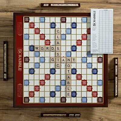 Buy Scrabble Giant Deluxe Edition with Rotating Wooden Board