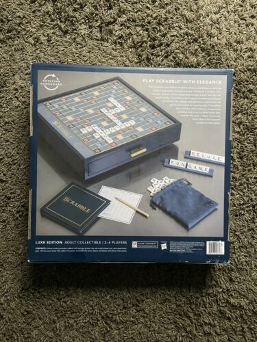 Buy Scrabble Limited Luxe Edition Adult Collectible Board Game - Black, Gold, Blue