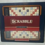 Buy Scrabble Luxury Edition with Rotating Wooden Board Game Cabinet Sealed NIB