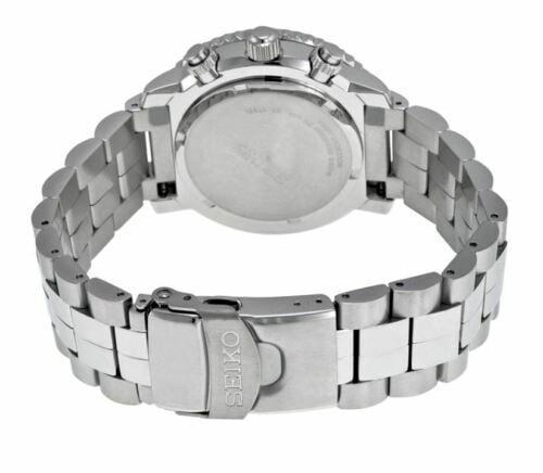 Buy Seiko Flightmaster Men's Black Dial Chronograph Watch SNA411