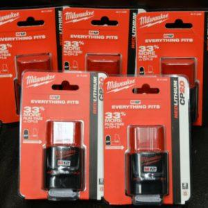 Buy Set of 5 Milwaukee M12 REDLITHIUM CP2.0 Battery Pack 48-11-2420