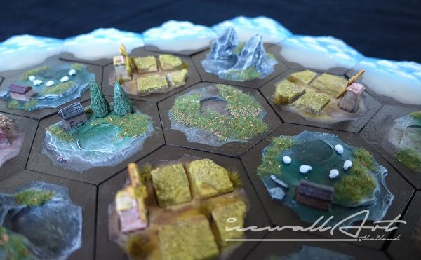 Buy Settlers Of Catan 3d Board Game Painted Handmade Tilescatan