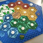 Buy Settlers of Catan Board | 3-4 Players FULL. Blue. Custom, Wood, Laser Cut.