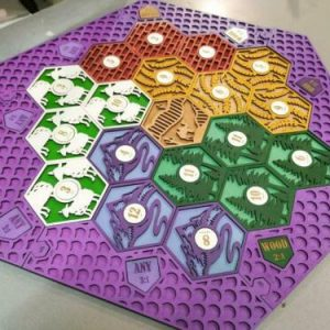 Buy Settlers of Catan Board | 3-4 Players FULL. PINK. Custom, Wood, Laser Cut.
