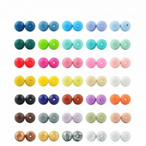Buy Silicone Bead Round Shape Baby Teether Silicone BPA Free DIY Teething Accessory