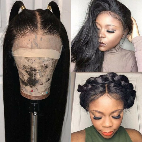 Buy Silk Base Full Lace Wigs 100% Indian Remy Human Hair Wig Straight Pre Plucked Sz