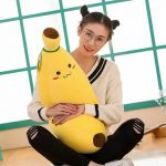 Buy Simulation Banana Pillow Fluffy Cotton 80cm Stuffed Cartoon Yellow Fruit Toys