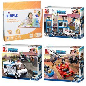 Buy SlubanKids Building Blocks Set (3) 1117 Pcs & Dimple coloring mat Toy For Kids