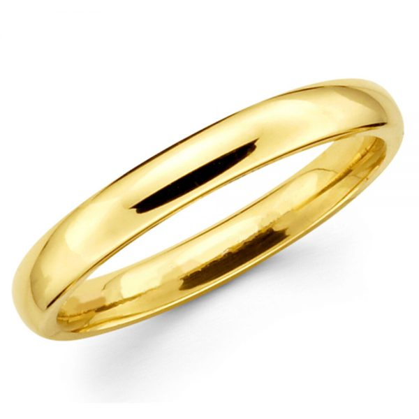 Buy Solid 14K Yellow Gold 2mm 3mm 4mm 5mm 6mm Comfort Fit MenWomen Wedding Band Ring