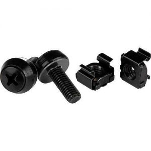 Buy StarTech.com M6 x 12mm - Screws and Cage Nuts - 100 Pack, Black - M6 Mounting Sc