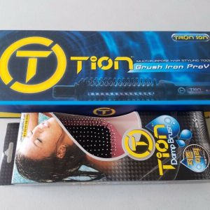 "Buy TION Brush Iron Pro V1 Multi-Purpose Hair Styling Tool Size M 1"" with Damp Brush"