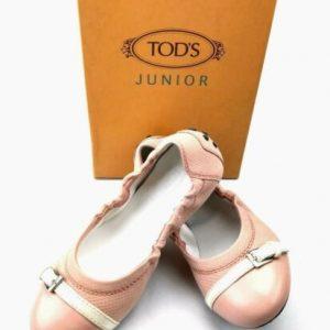 Buy TOD'S Girls Fibbietta Dee Ballet Flats in Lingerie Pink US SZ 2 - BRAND NEW!